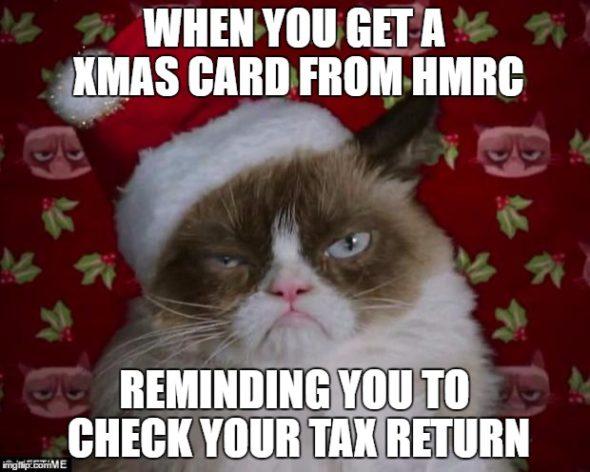 1hl2ji e1484309860198 hmrc christmas card nudge self assessment tax return