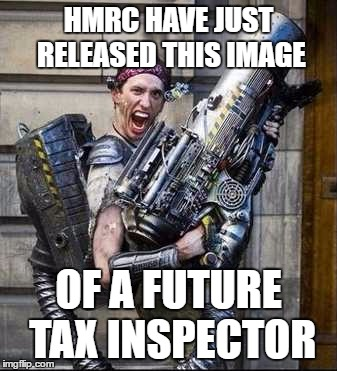 HMrc have just released this image Of a future Tax Inspector