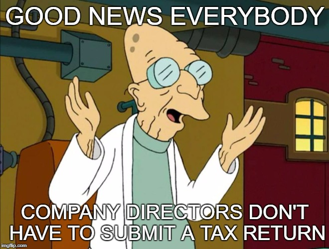 Good News Everybody Company directors don't have to submit a Tax Return