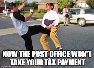 Now the post office won't take your tax payment