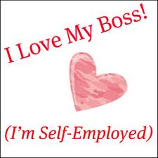 Image Of A Pink Heart With Text Around It Reading I Love My Boss