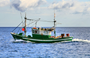 Green_and_whiteFishing_boat_in_the_Canary_Islands