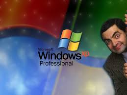 Mr Bean with Microsoft XP professional promotion poster