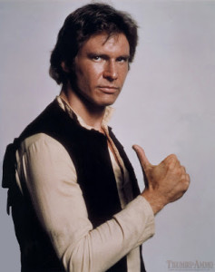 Han Solo with thumbs up