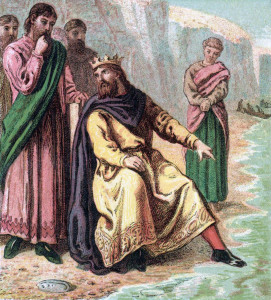 Canute showing the limits of kingship