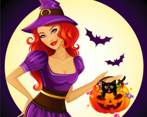 trick_or_treat_pumpkin_bats_woman_candy