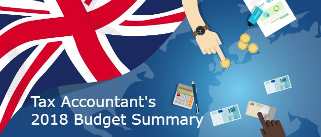 ax Accountants 2018 Budget Summary
