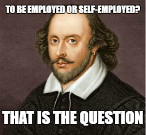 shakespeare to be employed or self employed