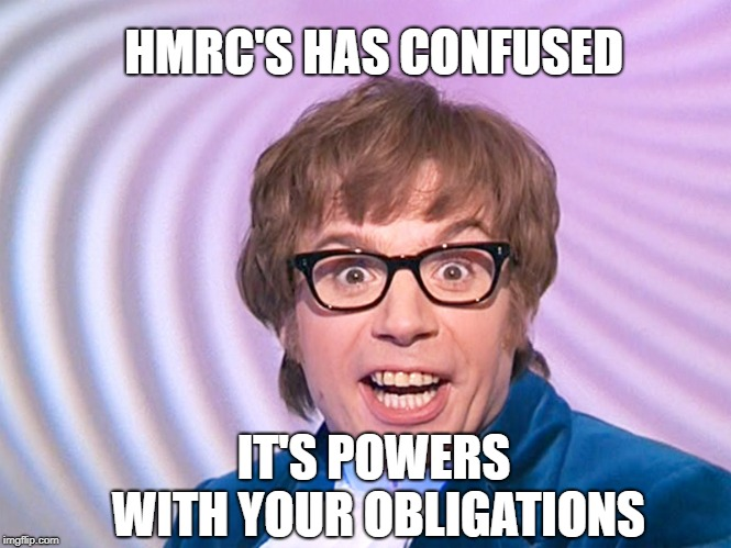 Austin Powers meme HMRC v Steel
