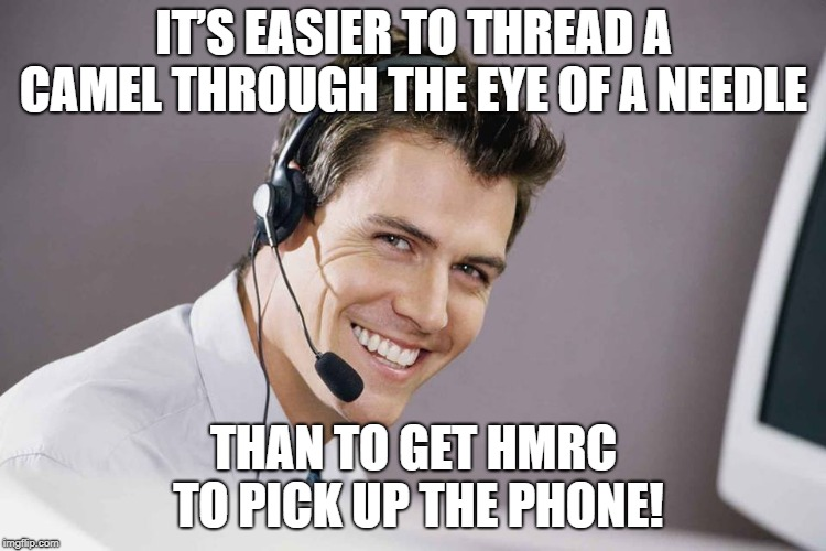 Sarcastic call centre guy hmrc surcharge