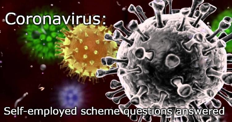 Corona virus image Self-employed scheme questions answered