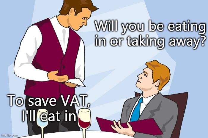Cartoon of a restaurants