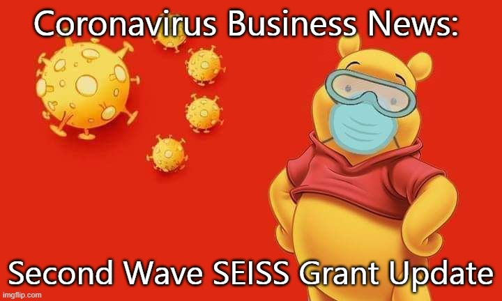 Coronavirus Business News: Second Wave SEISS Grant Update