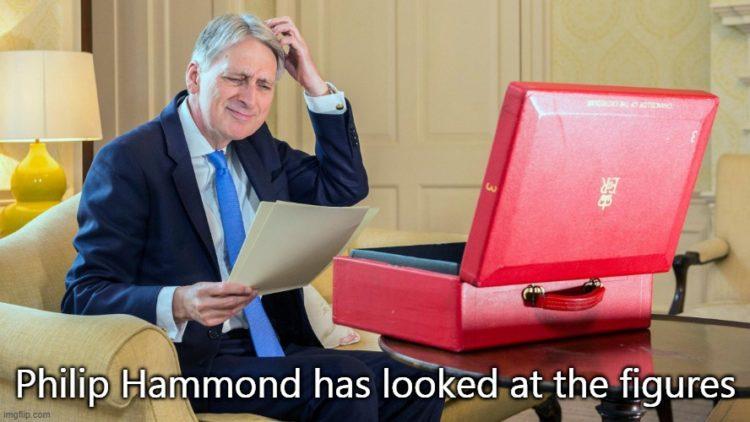 Phillip Hammond when chancellor in 2017