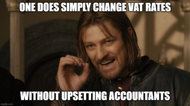 Prepare for the new 12.5% VAT rate