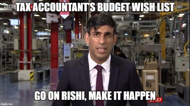 Tax Accountant's October 2021 Budget Wish List